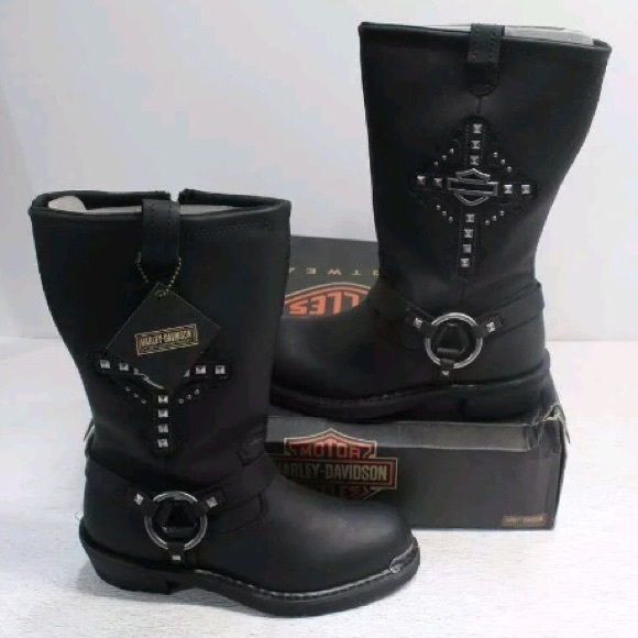"""893c11c0d4f07e Harley-Davidson® Mila 10"""" Leather Motorcycle Boots"""